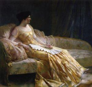 Portrait of the Artist's Wife, Evangeline Wilbour Blashfield , by Edwin Blashfield