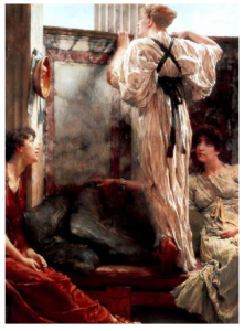 Who is it    by Sir Lawrence Alma-Tadema