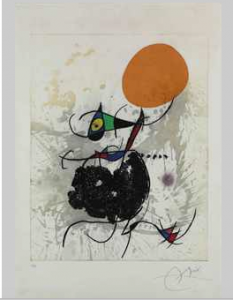 Joan Miro,  Terre atteinte et Soleil intact