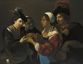 The Fortune Teller , attributed to Nicolas Regnier