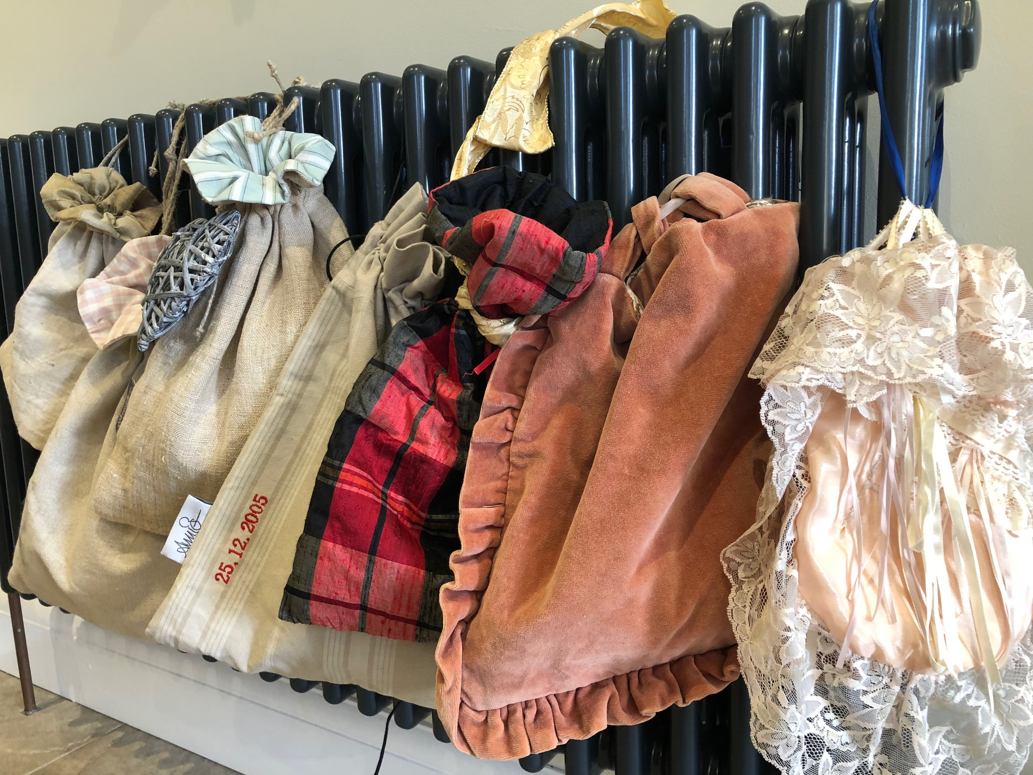 A sample collection of Vintage Bags from over 30 years.