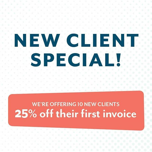 To celebrate all the good things to come, we want to spread the excitement! 🎉🎉⠀ ⠀ It's our first New Client Special! We want to give you everything your business needs to stand out... even if that means discounts! We're offering TEN new clients 25% off their first invoice. That's right! Any new client gets 25% off any package deal. ⠀ ⠀ Know someone who needs help reaching their audience with a new logo, website, or social media marketing? Help them stand out by tagging them in the comments! Only the first ten clients to sign a contract get this great deal, so don't put it off! ⠀ ⠀ Visit our website for a full list of our services and packages!⠀ ⠀ _________________________________________⠀ ⠀ #thatlunchbox  #lunchboxcreative #graphicdesign #illustrator #design #branddesign #logo #designerforhire #yeahthatgreenville #andersonismytown #giveaways #discounts #newclients #happyfriday #friyay #webdesign