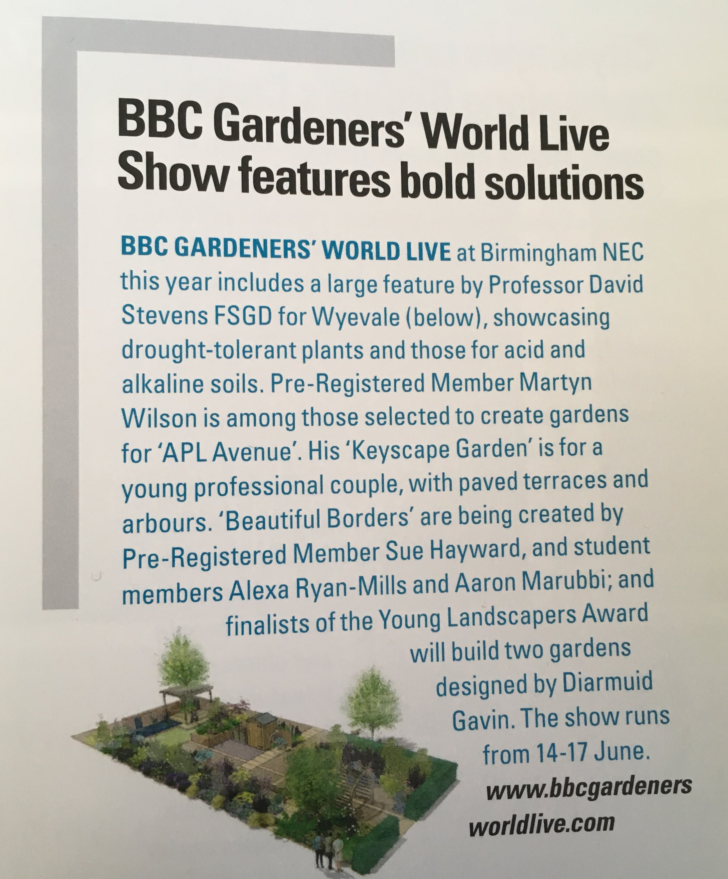 The Garden Design Journal - Published by the Society of Garden Designers (print only).June 2018.