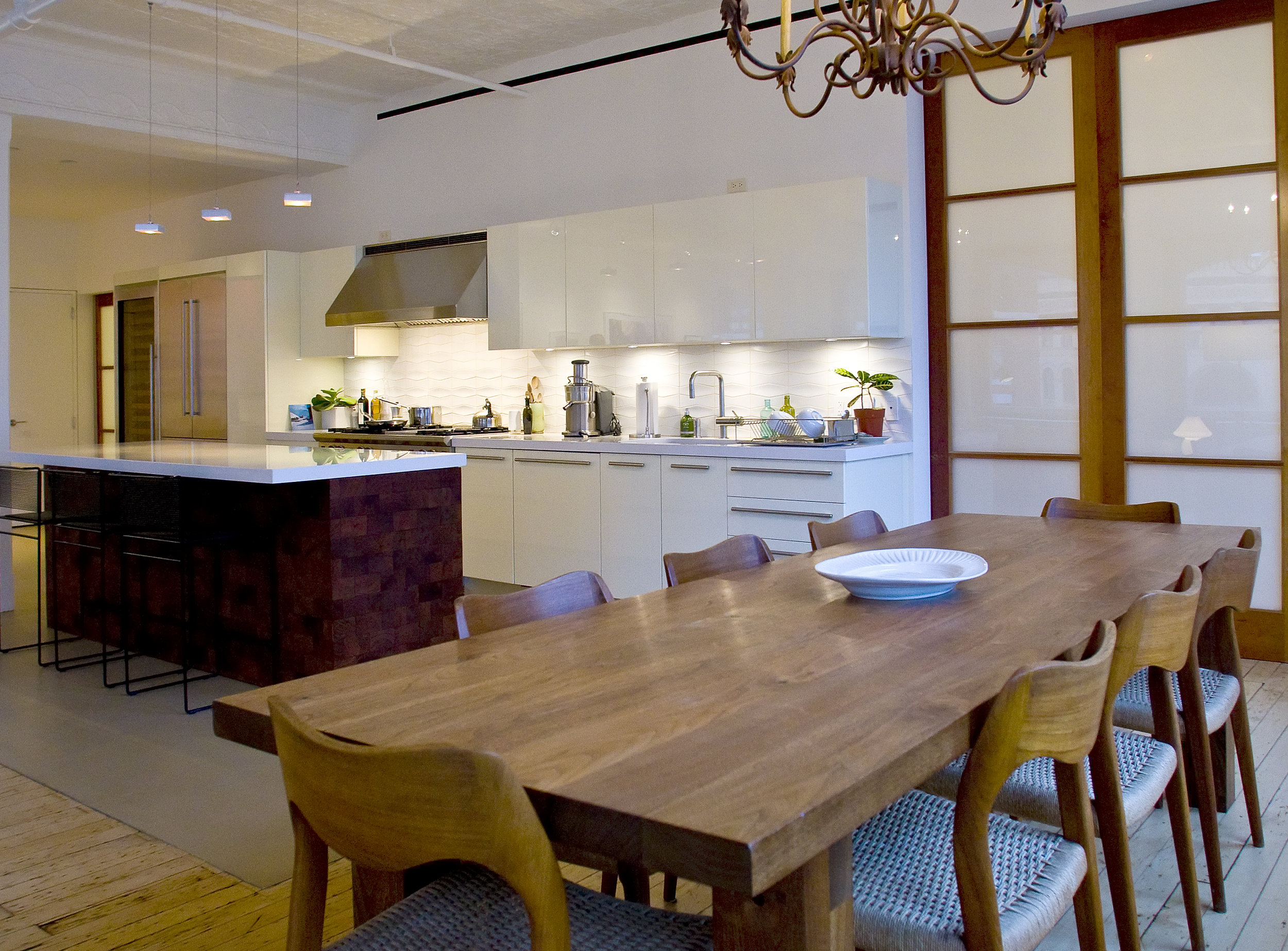 Tribeca Loft - Dining Area and Kitchen