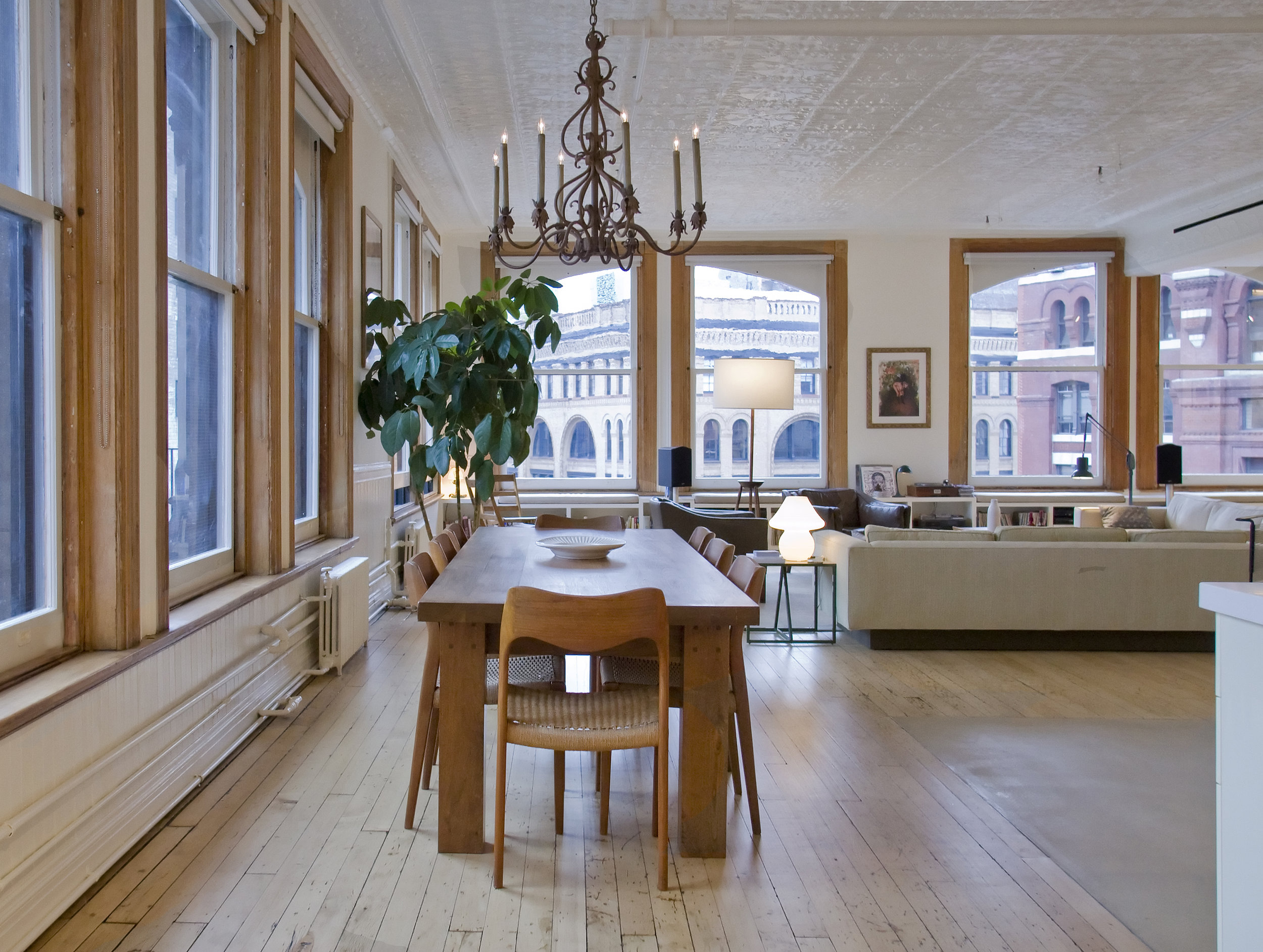 Tribeca Loft - Dining Area and Living Room