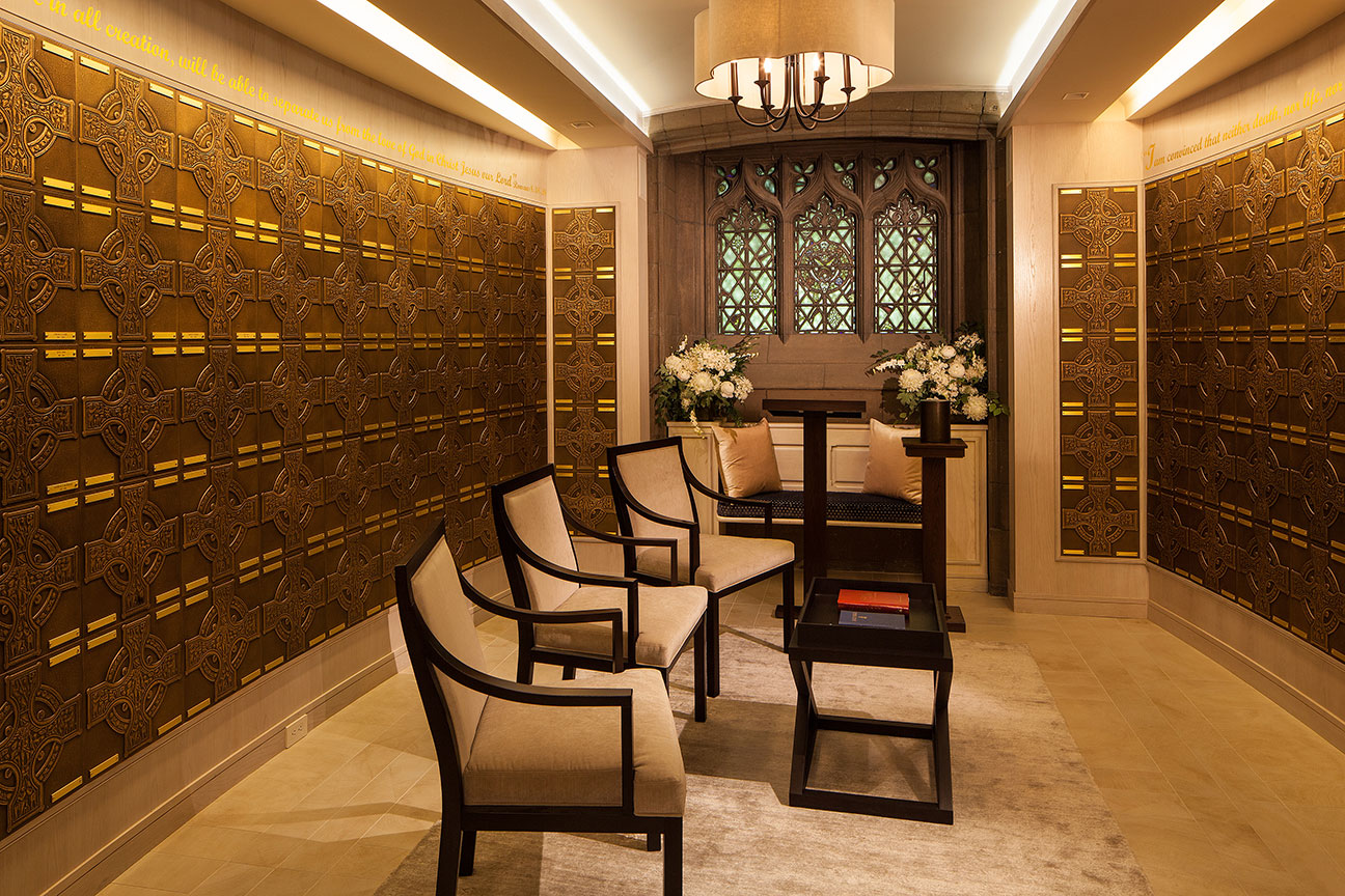 FAPC Columbarium - Family Seating & Lectern