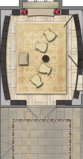 FAPC Columbarium - Rendered Floor Plan