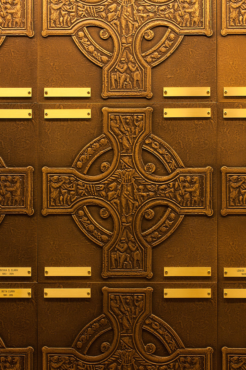 FAPC Columbarium - Celtic Crosses & Brass Name Plates