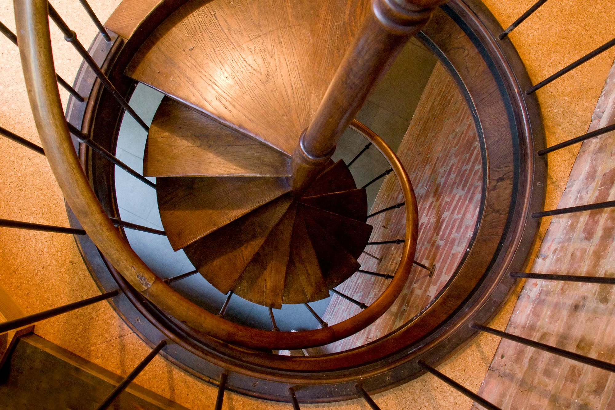 West Village Brownstone - Parlor Level Library Spiral Stair