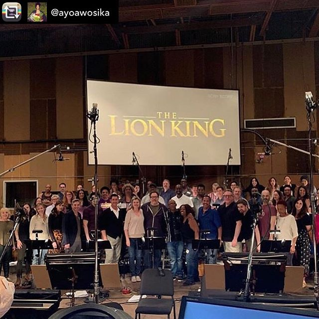 "Never let it be said that I didn't bring WORLD CLASS musicians to the Big Gay Al Presents house concert series! Who came and saw Ayo here?  Repost from @ayoawosika - Today's the day!! I'm ecstatic to finally be able to share that I sang alto in the EPIC choir throughout the entire soundtrack for ""The Lion King""!! *PINCH ME*. 😁😅 The 1994 animated version was my favorite movie by far growing up (my sis and I wore the VHS out!!) so it was literally both for the child me (and also the adult me) living a DREAM and a complete honor to participate in any part of this. • It was a magical whirlwind of days of focused sight singing, recording to the gorgeous orchestra and turning each page with actual glee to see the song titles of one favorite and iconic song after the next. (WOW, @eltonjohn 😆) • So so grateful to @edielehbod and getting to share this with the incredible voices and new friends I made. What a community! But also to witness and experience the mastery of @thereallebo_m, @edielehbod, & @hanszimmer in real time was life changing and opened my eyes to a whole world that I'm so excited to explore more and be a part of.  I say it a lot but this is an instance where I EMPHASIZE: I love my job! • With GRATITUDE, JOY & a big HEART OPEN! ❤️🙌🏾🙏🏾😁🦁"