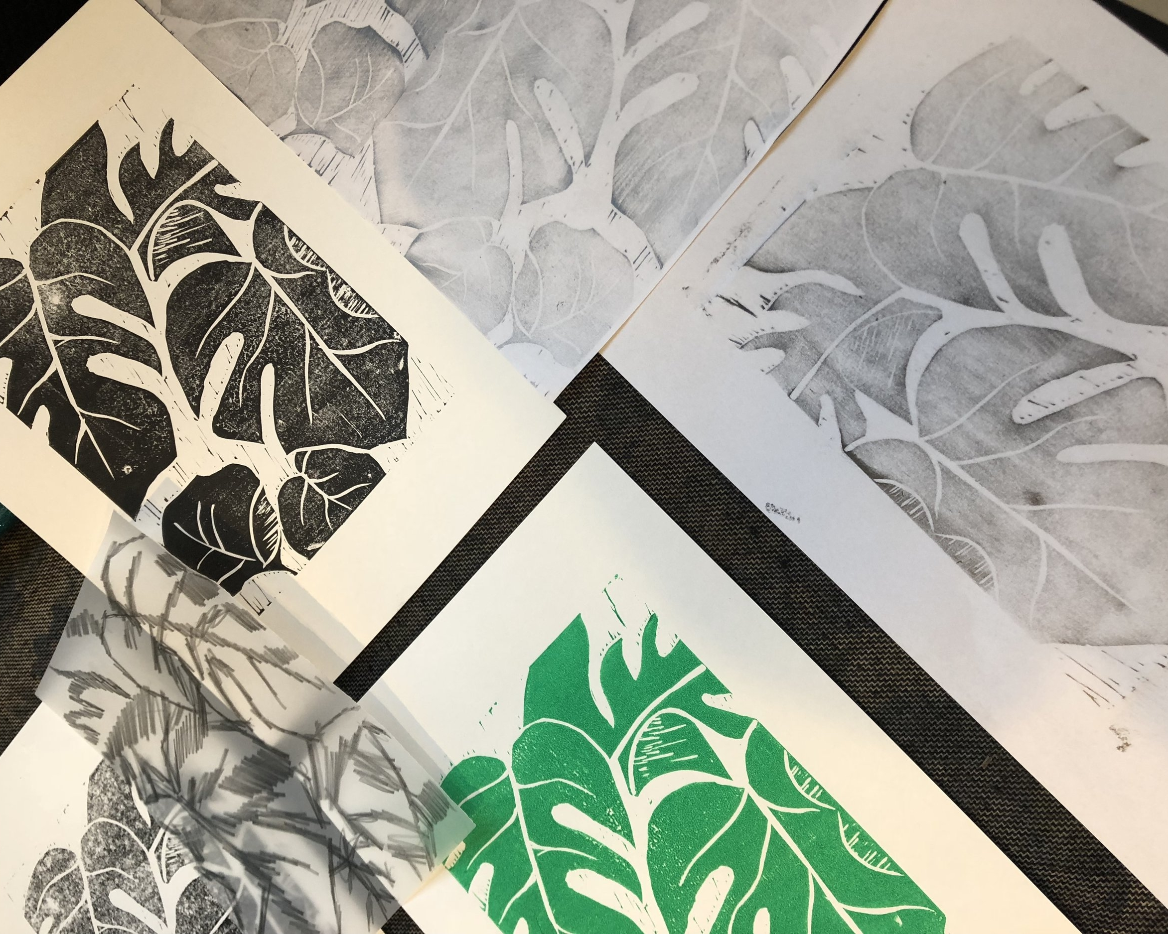 Lino print -