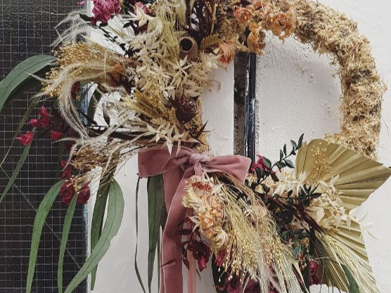 dried wreath -