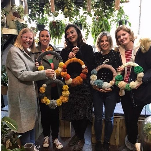 pom pom wreath -