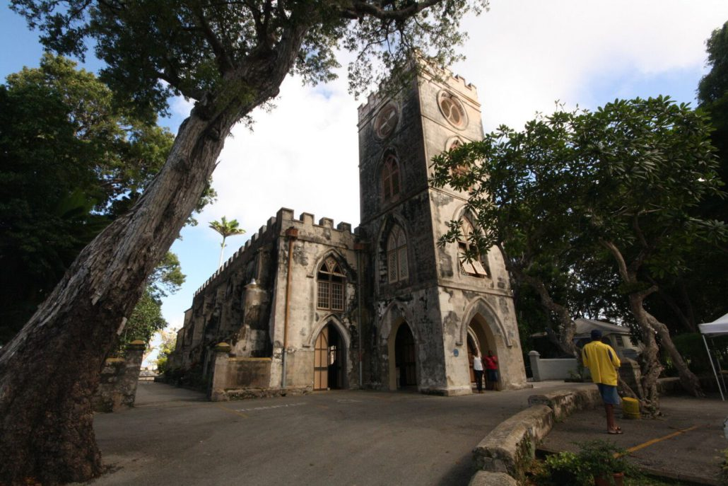 Barbados is home to several lovely churches, including St. John's Paris Church on the lush, eastern side of the island.  JIM BYERS PHOTO