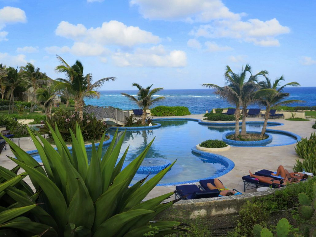 The Crane Resort is one of the most serene and beautiful in Barbados, with a stunning set of swimming pools.  JIM BYERS PHOTO
