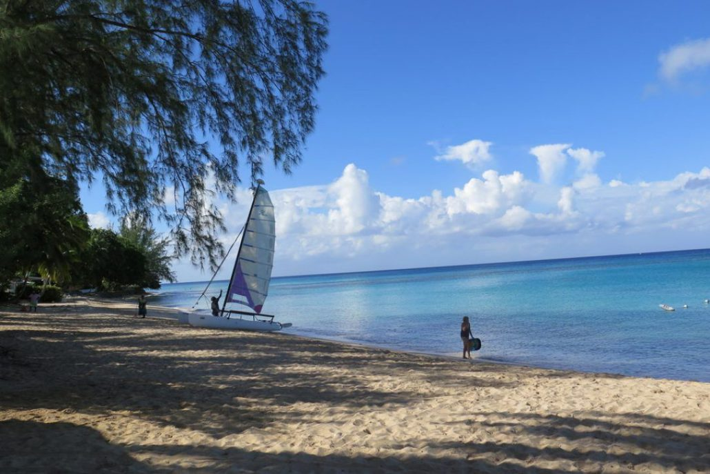 Expect silky sand and long protected beaches on the west coast of Barbados.  JIM BYERS PHOTO