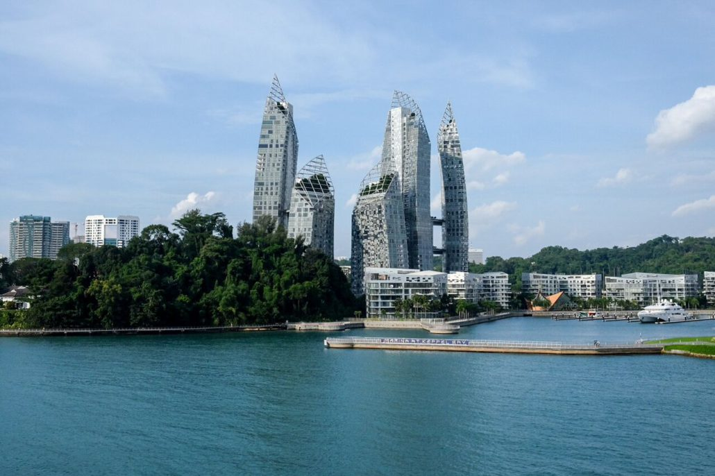 An example of Singapore's stunning architecture, as seen from the Silver Shadow in Singapore's harbour.