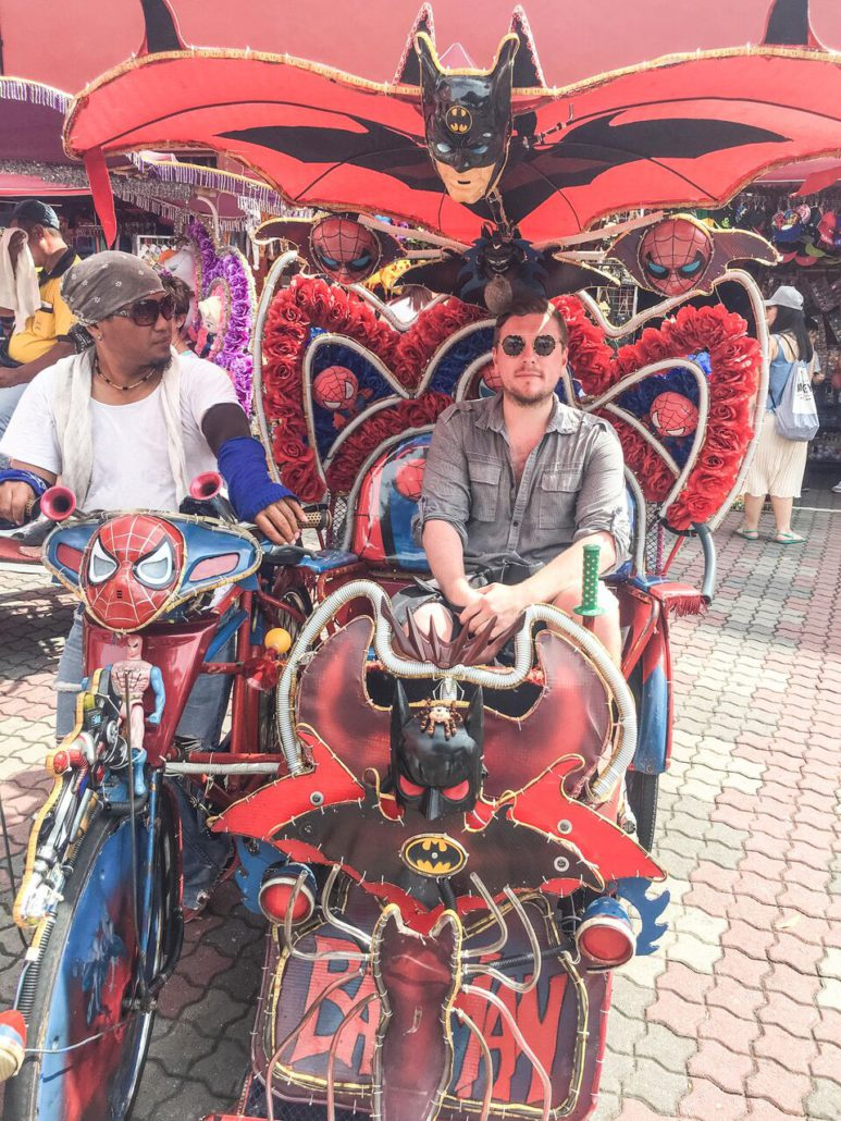 In Malacca – everyone agreed that I had the best trishaw.