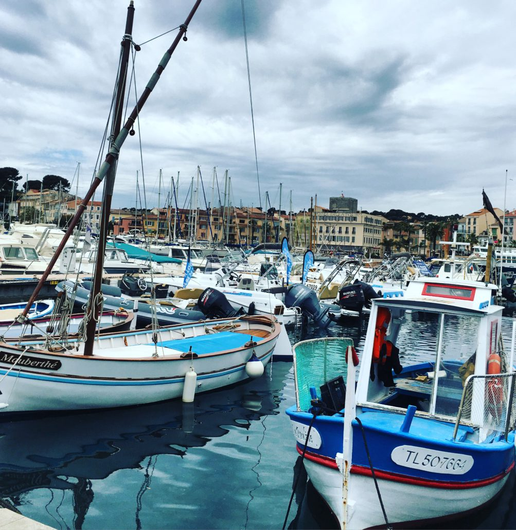 Back at Sanary-sur-Mer, we're charmed once again by the bustling colourful port, looking forward to boarding our magnificent vessel and begin cruising along the French Riviera again….