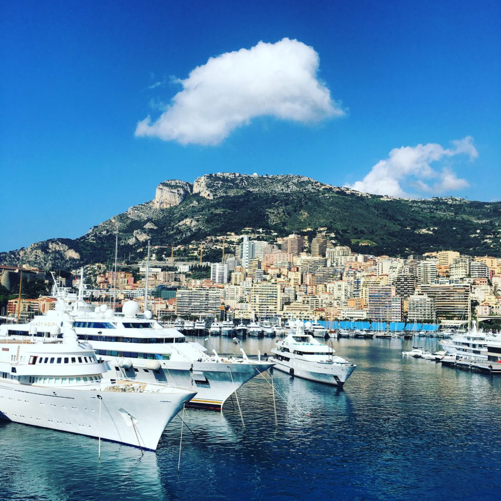 Arriving in Monte Carlo the next morning, and are greeted by a picture perfect setting.