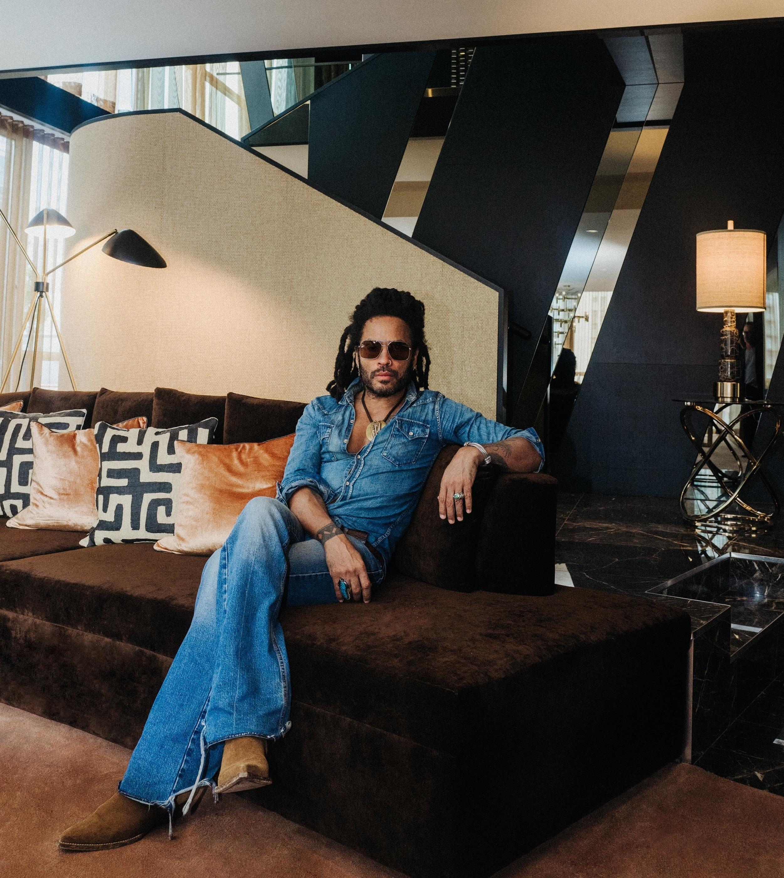 Lenny Kravtiz in the Bisha Suite at Bisha Hotel Toronto