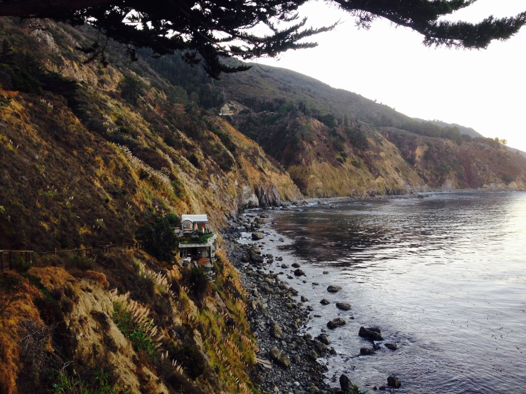 The Big Sur coastline from Esalen Institute