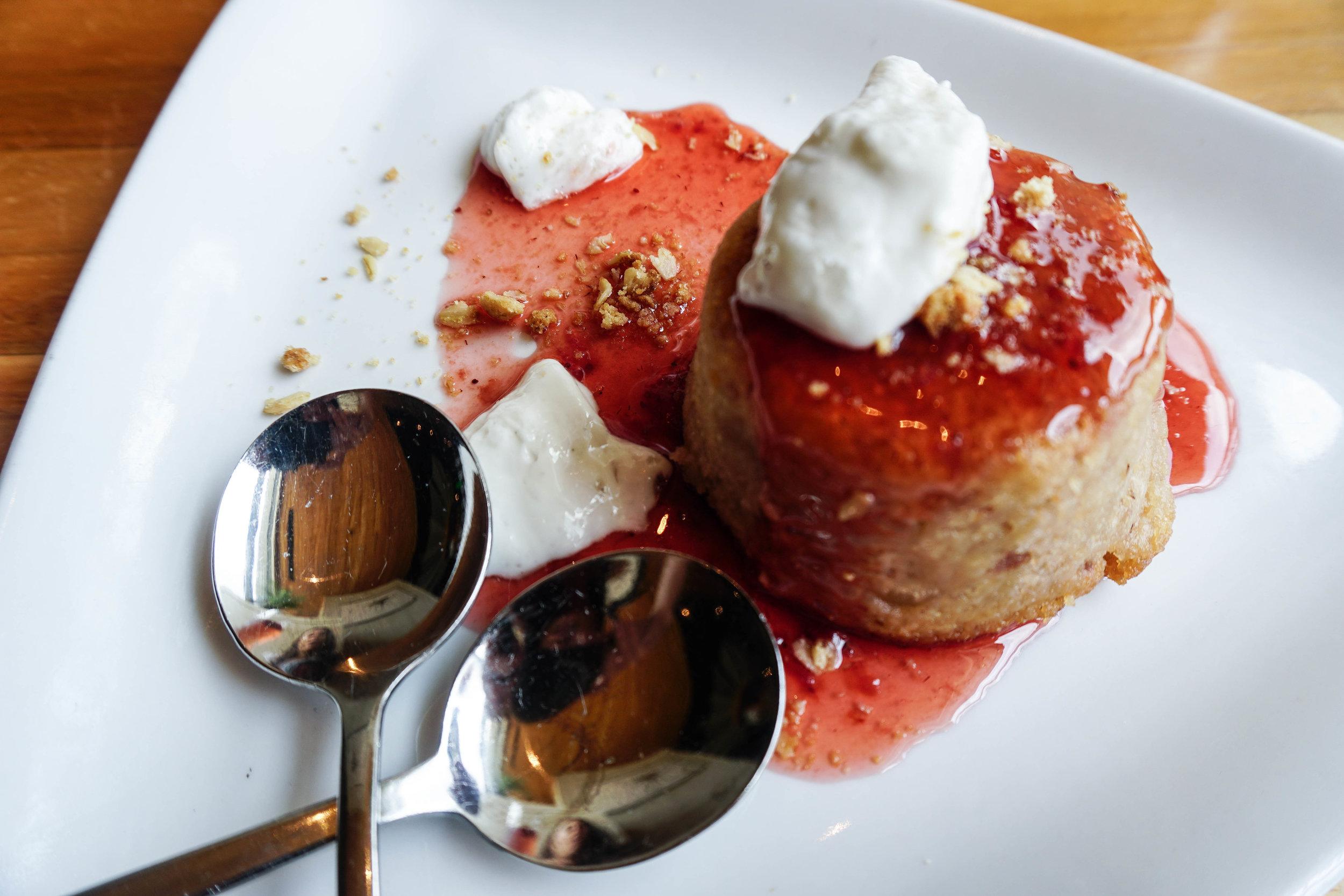 Strawberry Rhubarb Upside Down Cake (gf, df)