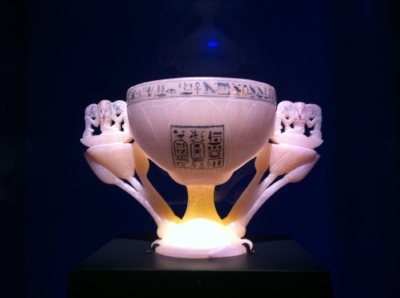 The alabaster chalice, known as the Wishing Cup
