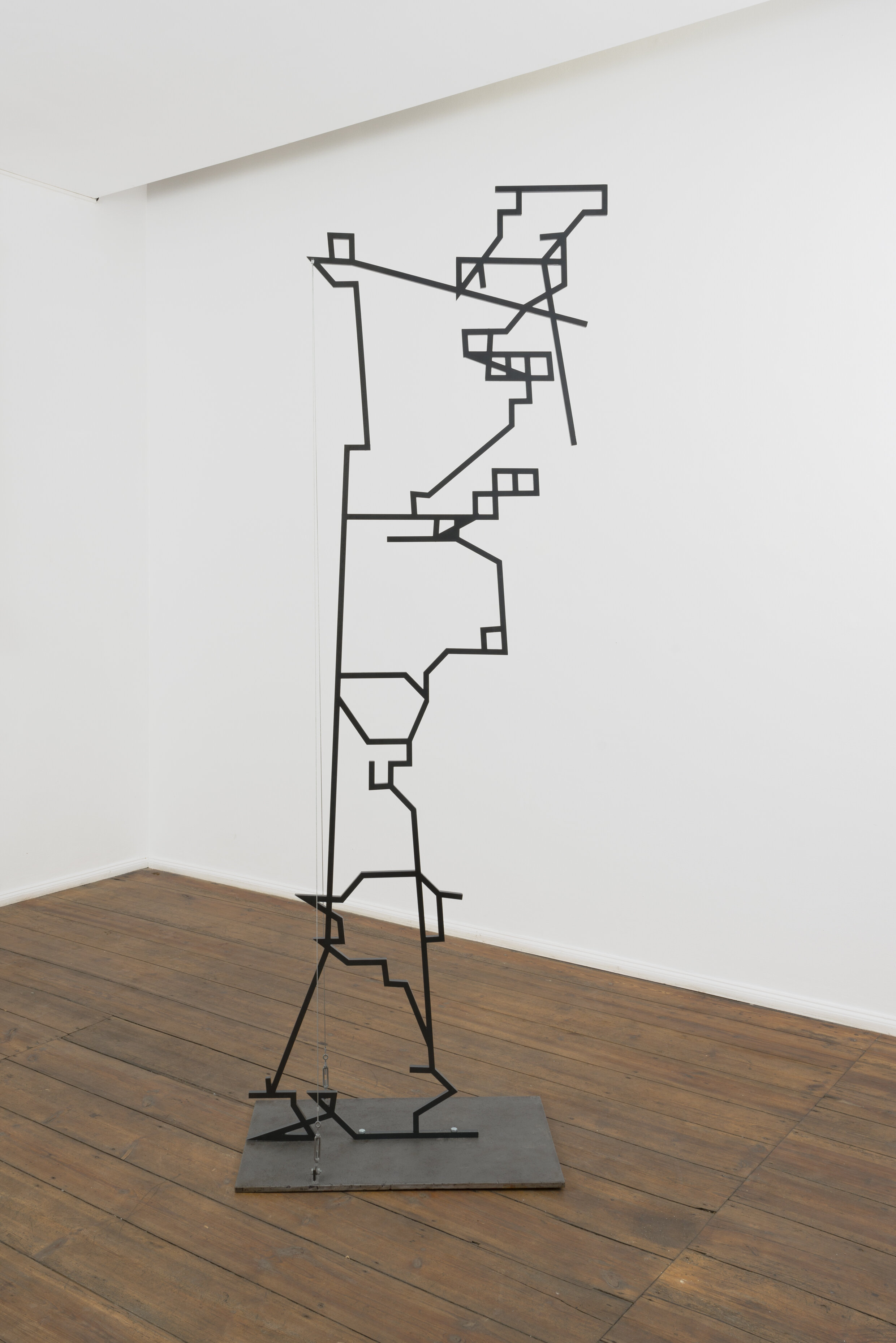 1. Phantom column (Petra, Jordan) 260x100x49cm. Steel, wire, sandblasted steel. 2014jpg.jpg