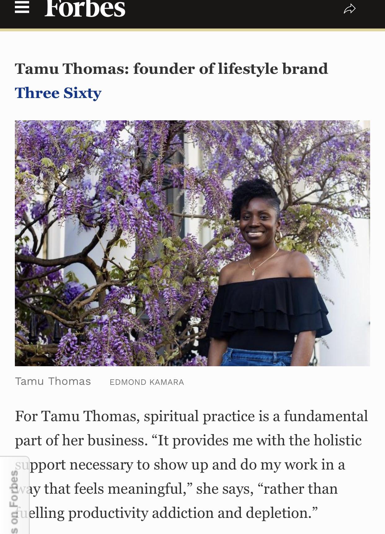 Forbes magazine, Forbes list, Sarah Akwisombe, spirituality and business, Deepak Chopra, tamu thomas, live three sixty, everyday joy