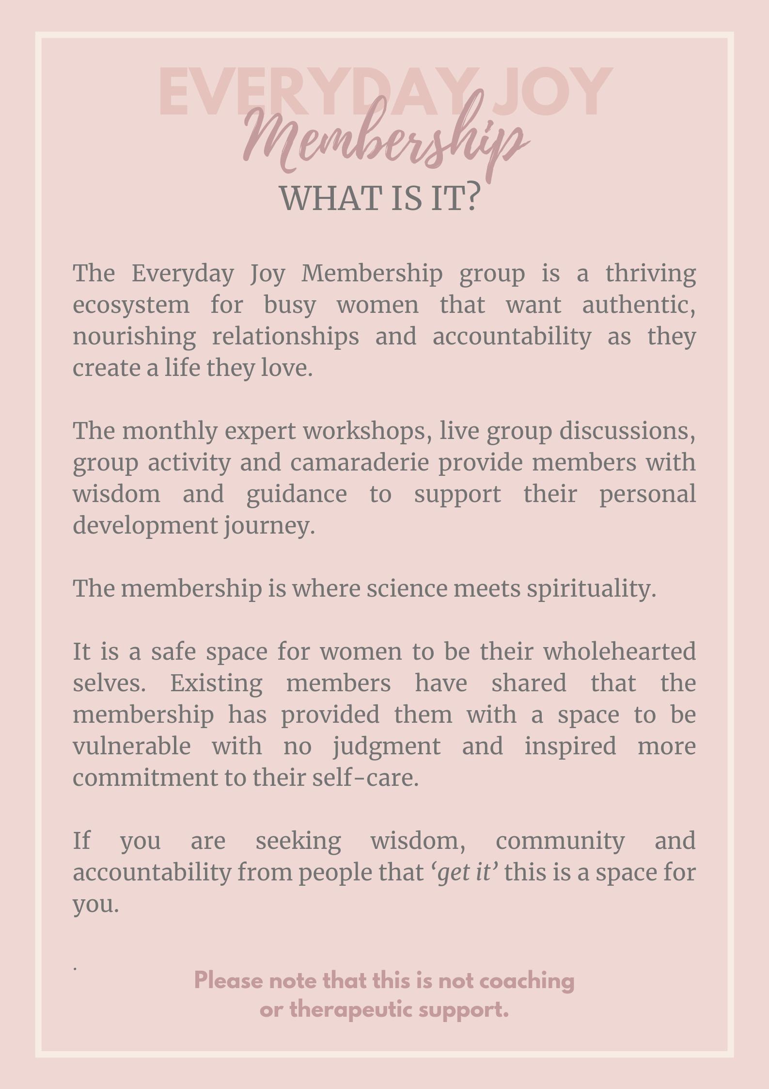 womens membership group, self help group, online membership group