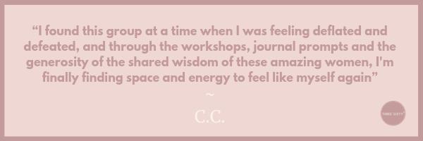 COACHing, life coaching for women, testimonial