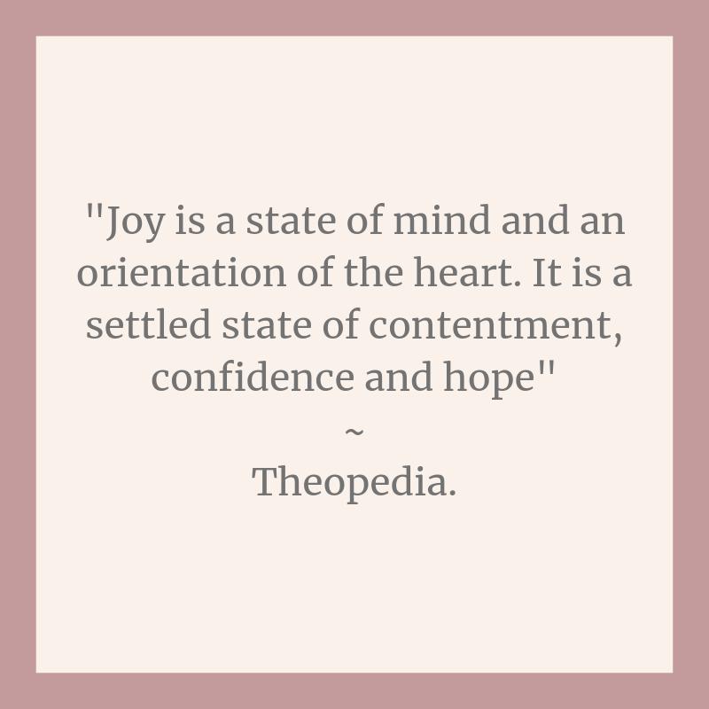 Joy, theopeida, self love