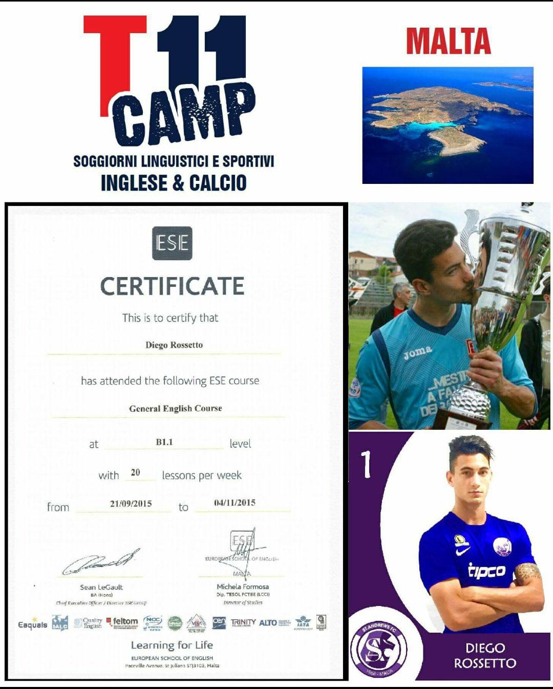 T11Camp, certificato d'inglese