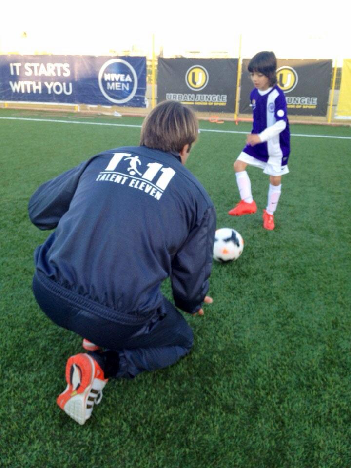 T11, allenatore e bambino