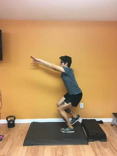 "Single Leg Box Jump  - focus on landing with knee forward and ""soft"""