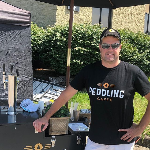 PCC was at the final day of filming for Free Guy today. Perfect weather for @newharvestcoffee and @ghowellcoffee on tap! #peddlingcaffecaterers #coldbrewcatering #moviesetcatering #freeguy