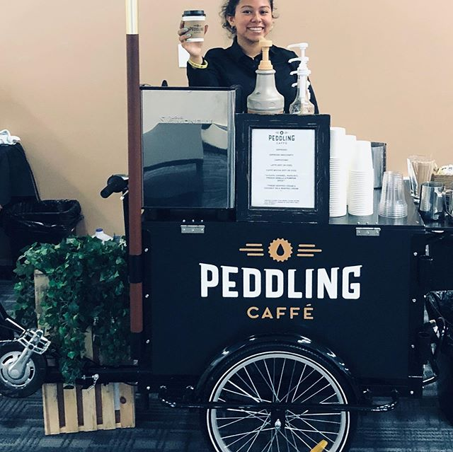 Big thanks to the folks @acceleronpharma in Cambridge ! PCC was in their office Monday , Tuesday and Wednesday this week for an employee appreciation initiative . We had a great time serving a great group of employees. #peddlingcaffecaterers #espressocatering #employeeappreciation