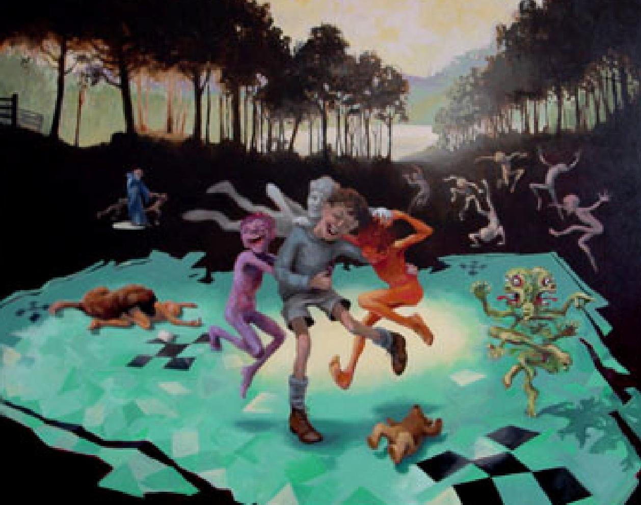 "GROUP SELF PORTRAIT #2, (2000) Oil on canvas, 48"" x 60"","
