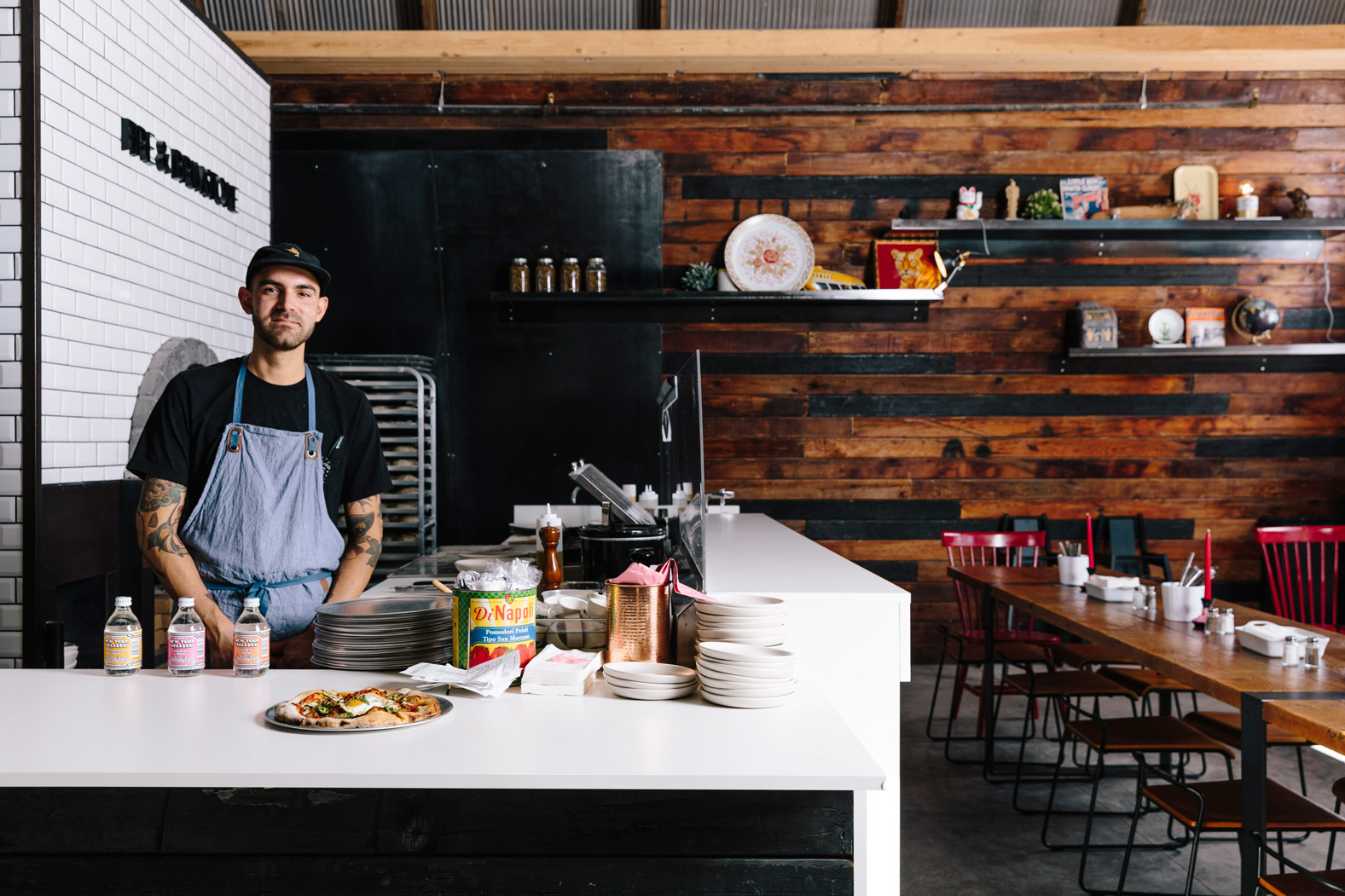 fire and brimstone - Bold and hearty wood-fired cuisine specializing in pizza, sandwiches, and salads.