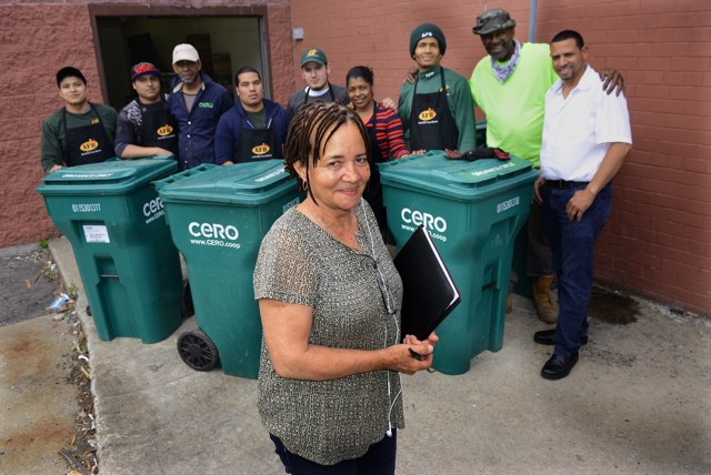 CERO works to keep food waste out of landfills, save money for their clients, and provide good green jobs for Boston's hard working communities.
