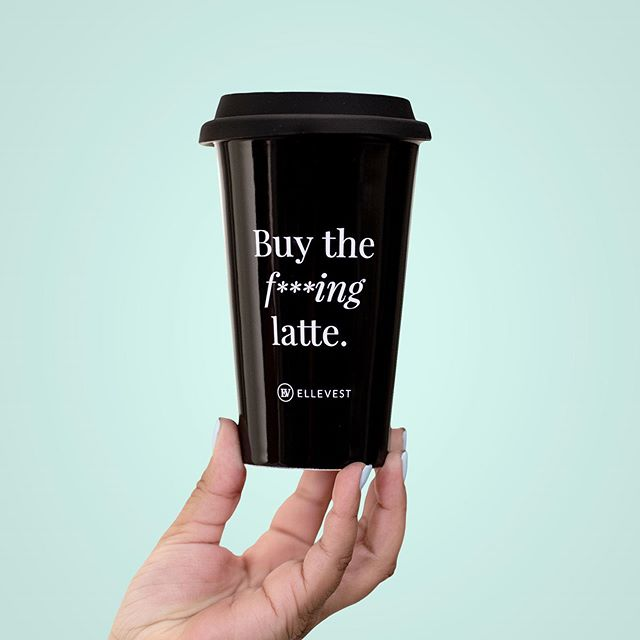 """Ladies, just skip the latte and you can be rich!"" is not only patronizing, but also pretty bad financial advice.⠀ ⠀ I already had @ellevest on my squad (are you investing your money?), but @Sallie.Krawcheck became my personal hero when I read her piece on Fast Company and found myself nodding and agreeing in expletives—louder than is probably reasonable in public.⠀ ⠀ She concisely explains why this advice is totally false and also how women and men differ in the ways we're taught about and think about money.⠀ ⠀ 💸 Yes, you should track your finances and know where your money is going.⁠⠀ ⠀ 🙅🏻‍♀️ No, your latte habit is not keeping you from becoming rich.⁠..the math doesn't even work.⠀ ⠀ If you haven't already, I highly recommend checking out the article (linkin.bio 👆🏽) and reading it over a delicious f***ing latte."