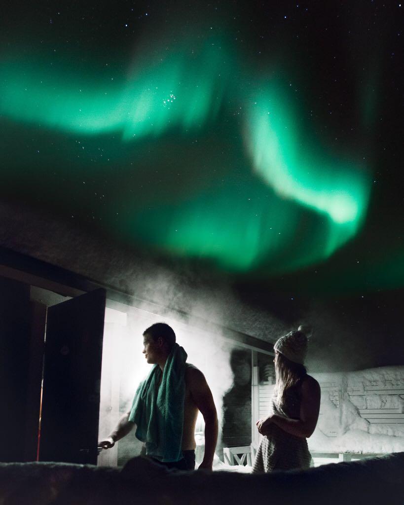 Sauna under the Northern Lights