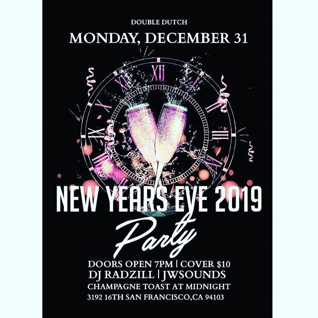 COME CELEBRATE THE NEW YEAR WITH US.... . . #newyear #2019 #sanfrancisco #bayarea #hiphop #doubledutch #16thst #bluemoon #sanfrancisco #missiondistrictsf