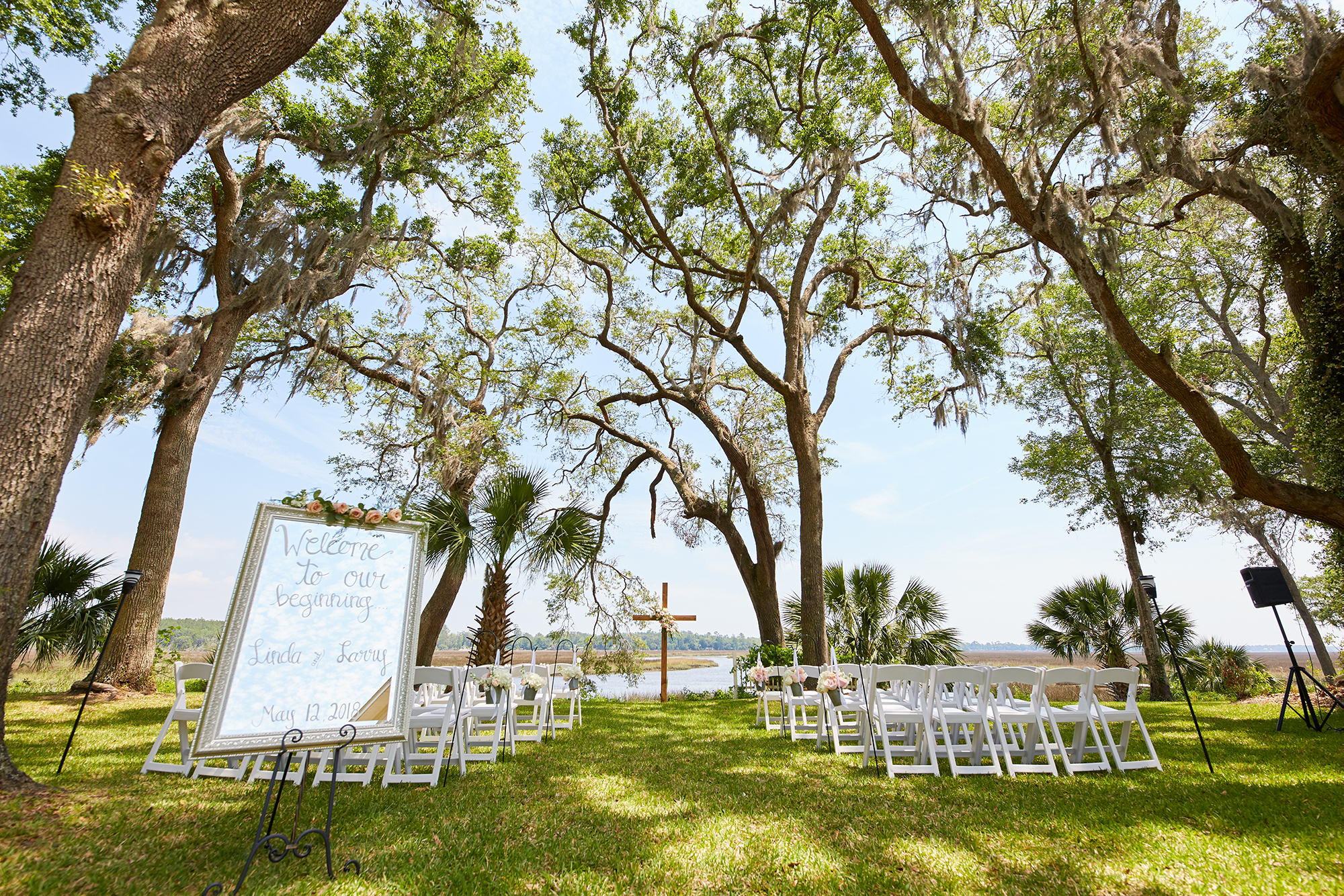 The Bluff Venue - Wedding Venue    The Bluff is nestled on the beautiful banks of Crooked River. The combination of the river view, marsh, live oak trees and the peaceful atmosphere makes The Bluff the perfect setting for your dream wedding..