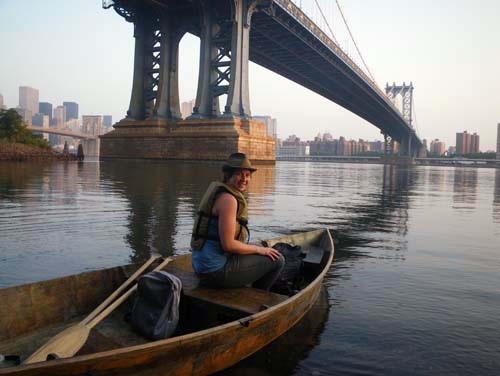 Constance Hockaday on the East River. Photo by Marie Lorenz