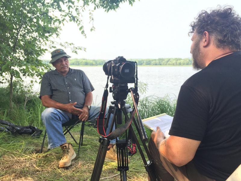 Wes Modes interviews Art Owen of the Prairie Island Dakota Tribe. WES MODES/CC BY-NC-SA 2.0