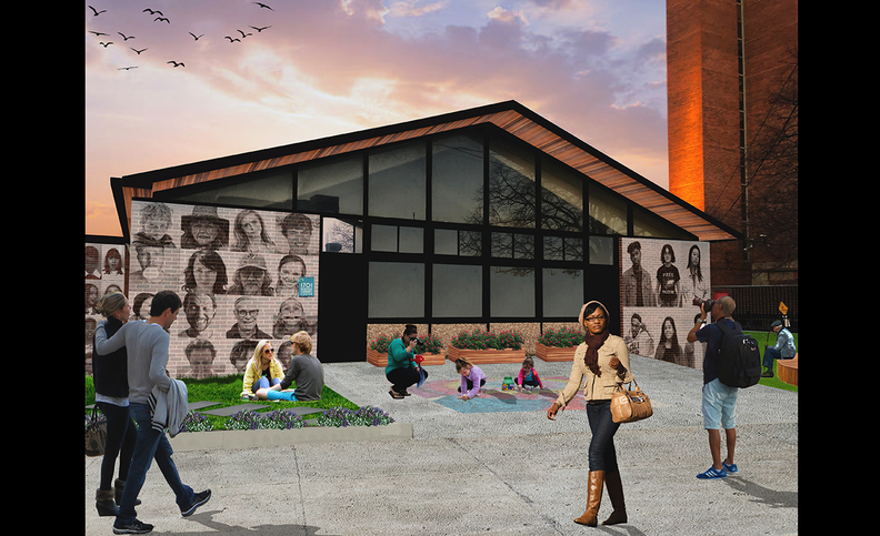 Sudanese designer Malaz Elgemiabby is partnering with LAND studio to convert a former community center at the Cuyahoga Metropolitan Housing Authority's Riverview Terrace into a welcome center in Ohio City.