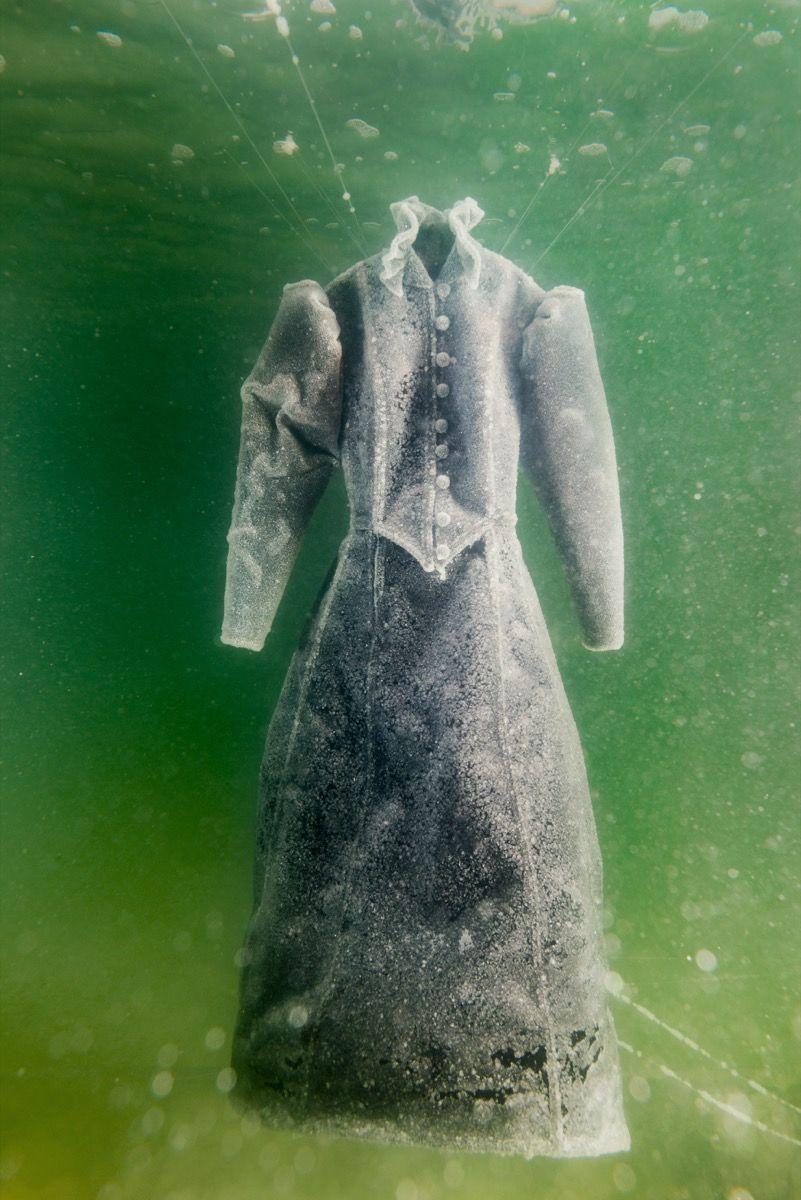 Sigalit Landau,  Salt Crystal Bride Gown III , 2014. Image courtesy of the artist and Marlborough Contemporary, London. Photo by Studio Sigalit Landau.