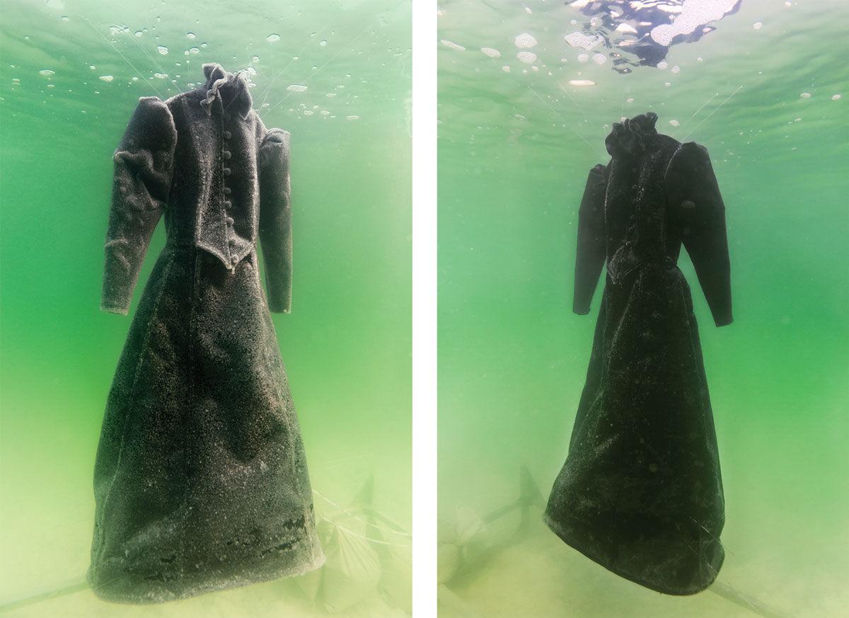 Sigalit Landau,  Salt Crystal Bride Gown III , 2014. Images courtesy of the artist and Marlborough Contemporary, London. Photo by Studio Sigalit Landau.